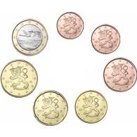 Finnland 1 Cent bis 1 Euro Kursmuenzen 2017
