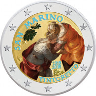 San Marino 2 Euro - Gedenkmünze 2018 Stgl. 500. Geb. von Jacopo Tintoretto in Farbe