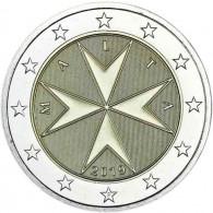 Malta 2 Euro Münze mit Münzzeichen F für Frankreich Monnaie de Paris