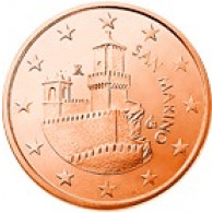 San Marino 5 Cent 2009 bfr. Festungsturm La Guaita