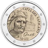 Vatikan-2-Euro-2021-Dante-I