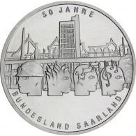 Silbermünze 10 Euro 2007 stgl. - Rückkehr des Saarlands