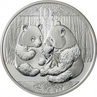 China 10 Yuan Silber 2009  Panda