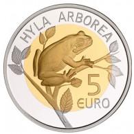 5 Euro Bimetall Münze 2017 Laubfrosch Flora und Fauna