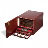 301415 -  Münzbox Kabinett  Mahagoni