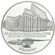 Deutschland 10 DM Silber 2001 Stgl. Katharinenkloster Meeresmuseum Stralsund