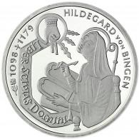 Deutschland 10 DM Silber 1998 Stgl. Die Heilige Hildegard von Bingen