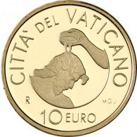 "Vatikan 10 Euro 2014 Gold PP  ""Die Taufe""  im Etui mit Zertifikat"