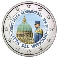 Sondermünze Vatikan 2 Euro 2016 200 Jahre Gendarmeriekorps