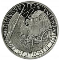 Deutschland 5 DM 1984 PP 150. Gründungstag Deutscher Zollverein in Münzkapsel