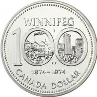 Kanada  1 Dollar 1974 Silber   Winnipeg