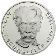 Deutschland 5 DM Silber 1975 Stgl. Albert Schweitzer