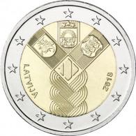 2 Euro Sondermünze Unabhängigkeit Lettlands baltische Gemeinschaftsausgabe