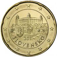 Slowakei 20 Cent 2014 bfr.  Burg von Bratislava - Kursmünze