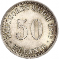 Kaiserreich-50-Pfennig-1875-1877-Jäger-7-I