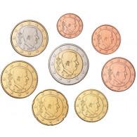 Kursmünzen Belgien 1 Cent bis 2 Euro 2018  Mzz. Merkurstab Bankfrisch bestellen