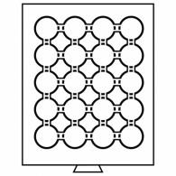 327498 - Münzbox 20 Fächer für CAPS 36 - rauchfarbe