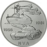 J.1578 - DDR 10 Mark 1981 bfr. 25 Jahre NVA