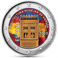 Spanien 2 Euro 2020 bfr. UNESCO Welterbeserie Mudéjar Architektur in Aragón (Teruel) in Farbe