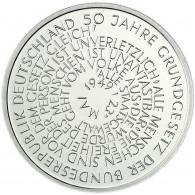 Deutschland 10 DM Silber 1999 Stgl. 50 Jahre Grundgesetz