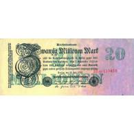 Banknoten der Inflation 20 Millionen Mark