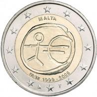 Sammlermünze 2 Euro Gedenkmünzen 2 Euro Sondermünzen 2 Euro Münzen Malta 2 Euro 2009 bfr. 10 Jahre WWU