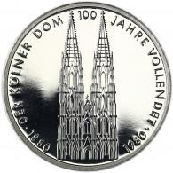 Deutschland 5 DM 1980 PP Kölner Dom in Münzkapsel