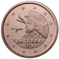 Sehr selten Andorra  2 Cent 2014 bfr.