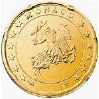 Monaco 20 Cent 2004 Polierte Platte