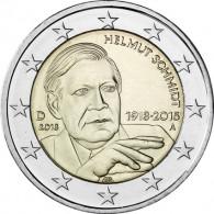 Deutschland 2 Euro 2018 Helmut Schmidt Mzz. A
