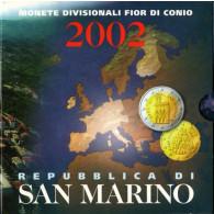 Kursssatz 3,88 Euro San Marino 2002 Erstausgabe