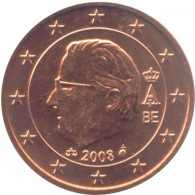 Belgien 1 Cent 2008 König Albert II
