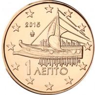 Griechenland 1 Cent 2015 bfr. athenische Triere