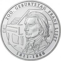 Deutschland 10 Euro 2011 PP 200. Geburtstag Franz Liszt