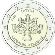 Lettland-2-Euro-2020-Lettgallische-Keramik-I
