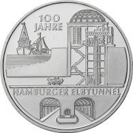 Gedenkmünze 10 Euro 2011 PP Hamburger Elbtunnel