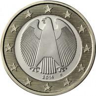 Deutschland 1 Euro- 2014  Kursmünze Adler