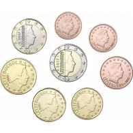Kursmünzen Luxemburg 1 Cent - 2  Euro  2017 bfr.