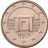 Malta 5 Cent 2012 bfr. Tempelanlage von Mnajdra