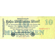 Banknote Inflation 10 Millionen Mark Reichsbanknote