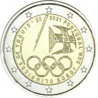 Portugal 2-Euro-Münze 2021 Olympische Spiele Tokio-av