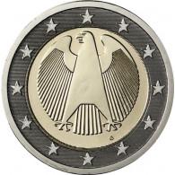 Deutschland 2 Euro Kursmünzen 2011 mit dem Bundesadler