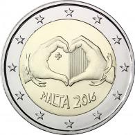 Kinder mit Solidarität Malta 2 Euro Münze 2016