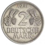 J. 386  2 DM 1951 Trauben und Ähren Mzz. G