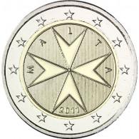 Kursmünzen Malta 2 Euro 2011 Malteser Kreuz Sondermünzen Gedenkmünzen Sammlermünzen Zubehör Münzkatalog