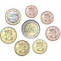 Finnland 1 Cent - 2 Euro 2007 bfr. lose im Münzstreifen