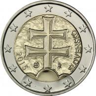 Slowakei 2 Euro 2015 Doppelkreuz