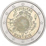 2 Euro Gedenkmünze 2012 10 Jahre Euro-Einführung Gemeinschaftsausgabe Luxemburg