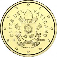 10 Euro Cent  Münzen aus dem Vatikan mit dem Papstsiegel  von Franziskus 2018