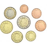 Belgien KMS 1 Cent - 2 Euro 2001 bfr. lose im Münzstreifen